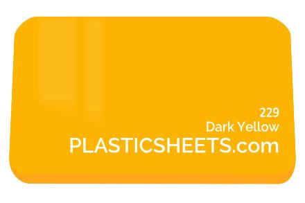 Dark Yellow Perspex Sheet